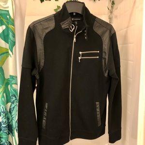 Men's International Concepts Fire Knit Moto Jacket